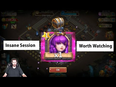 Best Session EVER INSANE Rolls NO JOKE 25000 Gems Athene Castle Clash