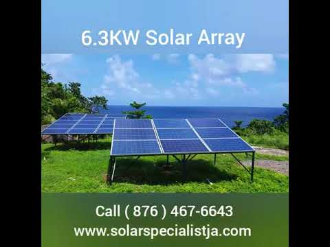 Off-grid Living in Jamaica 6.3KW Solar