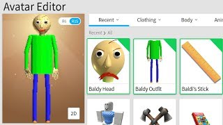 MAKING BALDI's BASICS a ROBLOX ACCOUNT!!