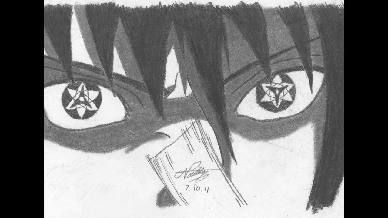 Sasuke Uchiha Eternal Mangekyou Sharingan drawing by ... |Itachi Mangekyou Sharingan Drawing