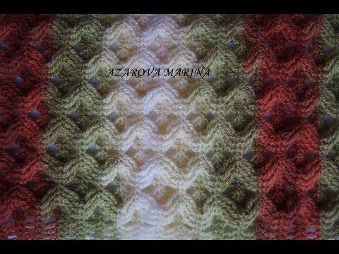 Узор крючком для шарфа из толстой пряжи