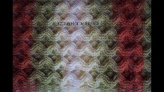 Двусторонний узор крючком. Прекрасный узор для шарфа.