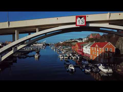 Haugesund, Norway by  drone 21.02.2018