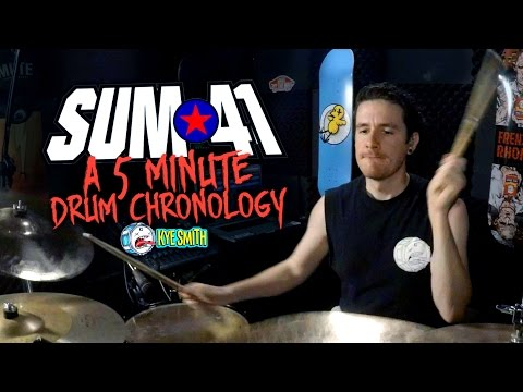 Sum 41: A 5 Minute Drum Chrology  Kye Smith 4K