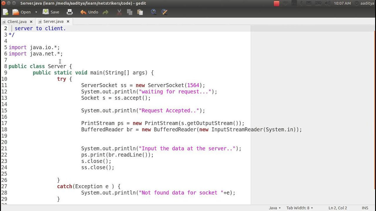 Java Programming Tutorial 48 - Socket Program to Pass message from Server  to Client
