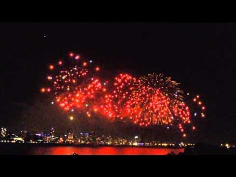 Australia Day FireWorks 2014 (Best View In Perth)