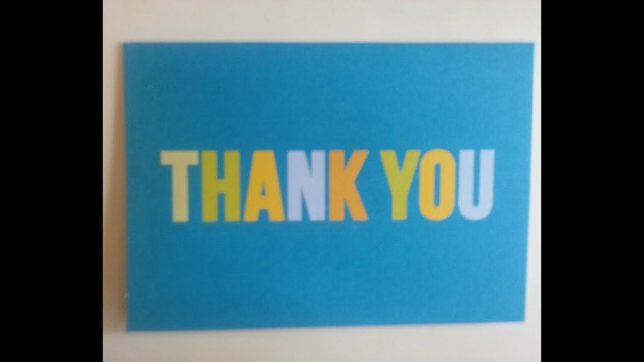 Teach Kids How to Write a Thank You Note - YouTube
