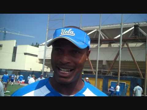 UCLA Offensive Coordinator Mike Johnson Post-Practice 8/19
