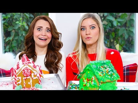 GINGERBREAD HOUSE DECORATING CHALLENGE ft iJustine!