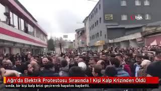 Ağrı Patnos 39 ta Elektrik Protestosu 1 kişi Öldü