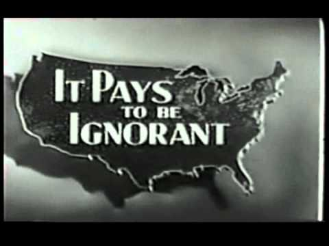 IT PAYS TO BE IGNORANT  credits NBC 1951