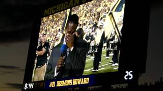 "Desmond Howard ceremony at Michigan Stadium for ""Under the Lights"""
