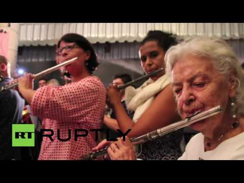 Brazil: Protesters sing against Temer abolishing Ministry of Culture