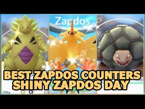 SHINY ZAPDOS RAID DAY IN POKEMON GO BEST COUNTERS | EX ...