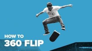Как делать трюк 360 флип на скейте. How to 360 flip. Скейтборд обучение и трюки для начинающих(Скейтборд трюки для начинающих — http://bit.ly/subscribe-riders. 360 флип — это трюк на скейте, при котором доска делает..., 2013-05-10T10:41:32.000Z)