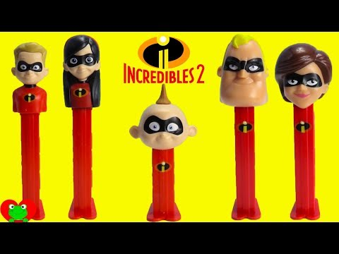 The Incredibles 2 Pez Candy Dispensers Baby Jack Jack Pop Up Surprises