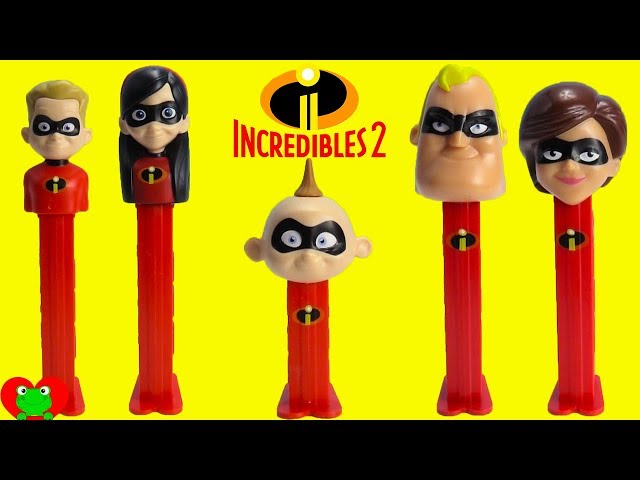 The Incredibles 2 Pez Candy Dispensers Baby Jack Jack Pop