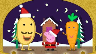 Peppa Pig Full Episodes | Mr Potato's Christmas Show | Kids Videos