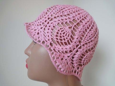 Панамка для девочки Часть 2 Panama for girls Part 2 Crochet