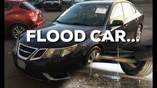 HOUSTON FLOOD CAR! Salvage Auction Saab!