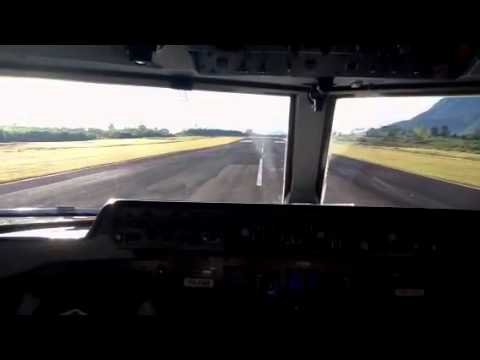 TRANSNUSA FOKKER 50 landing at Ruteng