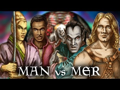 Skyrim: Man Vs Mer - The Ages Old Conflict - Anuic Vs Padomaic - Elder Scrolls Lore