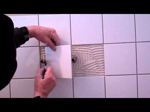 how to tile a shower wall in a static caravan part 1of 2