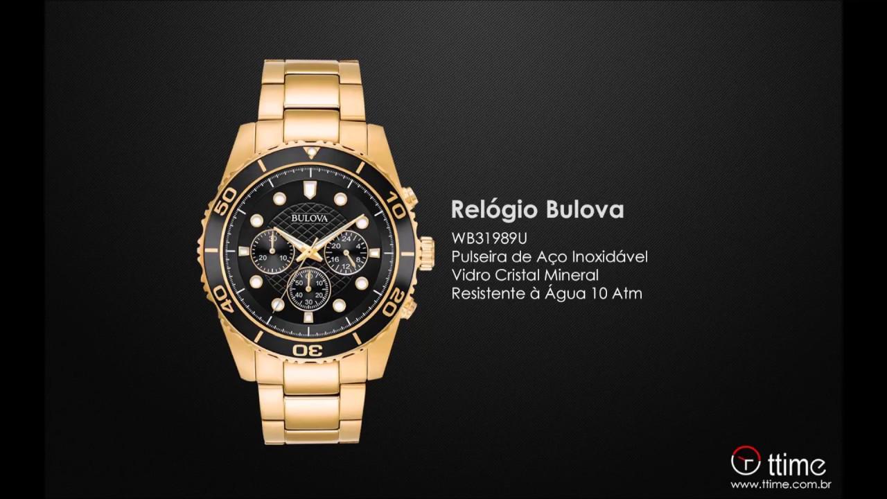 9cb63676f3e Relógio Bulova WB31989U - YouTube