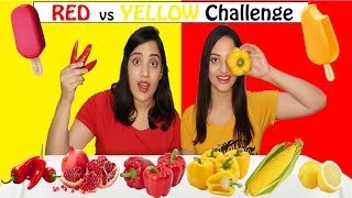 Red vs Yellow Food Challenge | Life Shots