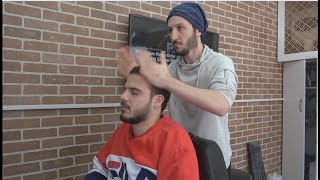 ASMR Turkish Barber Face,Head and Body Massage 211 👍💆‍♂️💈