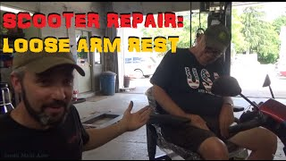 Mobility Scooter Repair - Loose Arm Rest