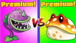Plants vs Zombies 2 CHOMPER vs TOADSTOOL(New Series of Plants vs Zombies 2 comparing two kind of damage premium plants: Chomper vs Toadstool Watch my newest PvZ 2 videos every day. Click Here ..., 2016-12-15T11:00:00.000Z)