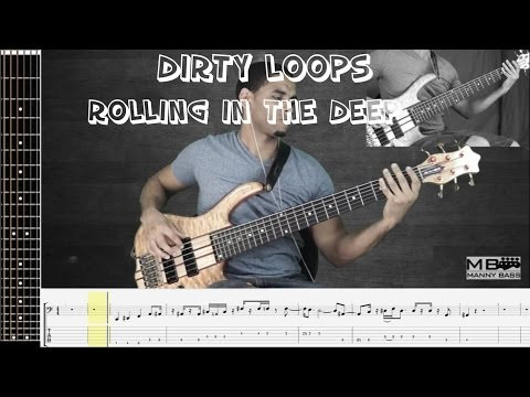 Dirty Loops Rolling in the Deep - Includes Tabs
