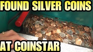 FOUND SILVER COINS CASHING IN @ COINSTAR!! I bought an abandoned storage unit !