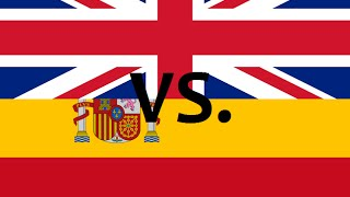 United kingdom vs. spain 2015 - country comparison - clash of nations