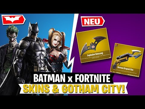 BATMAN X FORTNITE! Skins, Items & Gotham City LEAK | Fortnite Deutsch