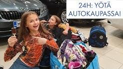 24H haaste: YÖTÄ AUTOLIIKKEESSÄ YKSIN