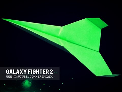BEST PAPER PLANE - How to make a paper airplane that Flies 10000 feet | Galaxy Fighter ⓶