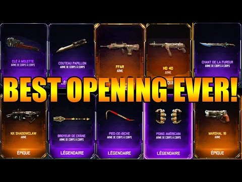 """COD BO3 World Best """"SUPPLY DROP OPENING"""" Ever? 8 ARMES!!!"""