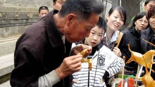 Candy Blowing by Street Artist in Xian, China
