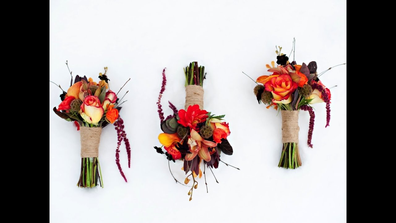 Rustic Fall Bridal Bouquet - YouTube