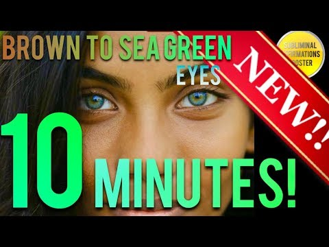 🎧 BROWN TO GOLDEN SEA GREEN EYES W/ LIMBAL RING IN 10 MINUTES! SUBLIMINAL AFFIRMATIONS BOOSTER!