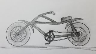 How to draw a bicycle