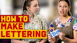 Summer and Iona's top tips to perfecting LEGO lettering | Lego Masters Australia 2020