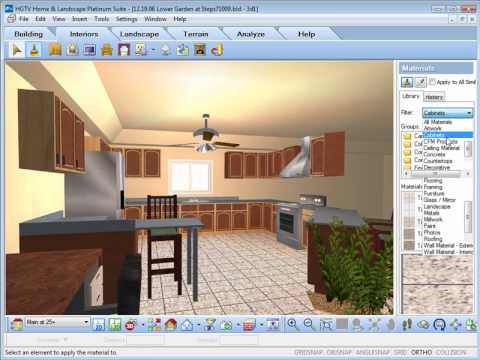 HGTV Home Design Software Working With The Materials Paintbrush
