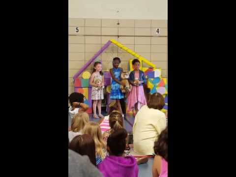 Ally and her friends singing 1,000 Years at the Lyons School Talent Show