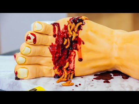 Rotting Leg, Spooky Candy Apples | Gory Halloween Cake Ideas | How To Cake It Step By Step