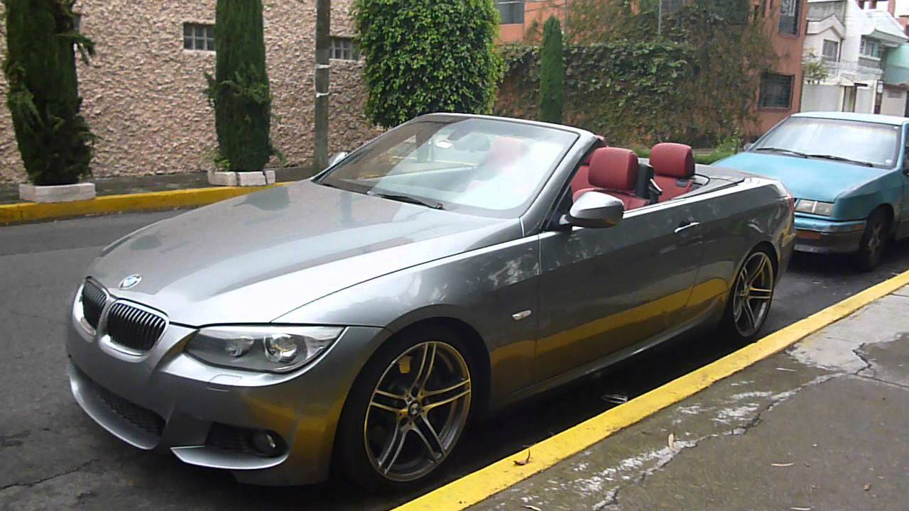 bmw 335i m sport convertible roof action en mexico youtube. Black Bedroom Furniture Sets. Home Design Ideas