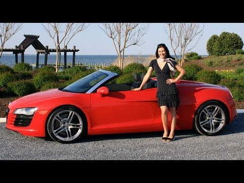 Audi R8 Spyder 2012 Test Drive & Review with Elizabeth Kreft by RoadflyTV