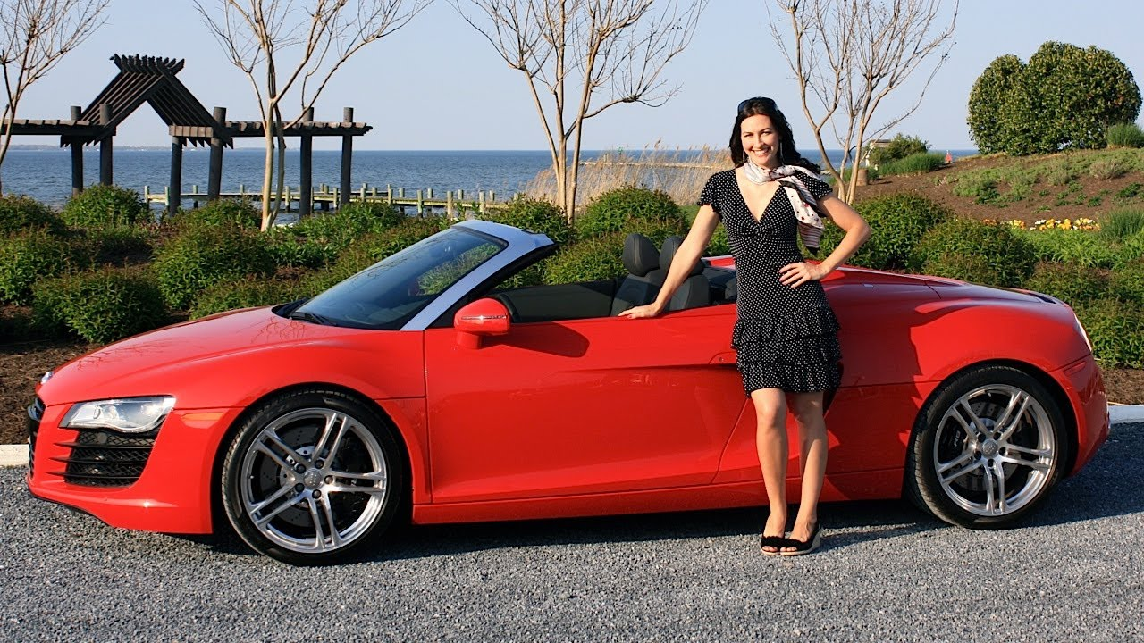 Audi R8 Spyder 2012 Test Drive Amp Review With Elizabeth